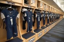 UNH football locker room