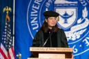 Kelly Ayotte speaking at commencement ceremony