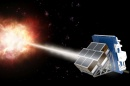 A gamma ray burst aimed at the LEAP space instrument.