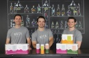 NOCA founders Richard Roy '16, Galen Hand '16 and Alex Febonio '16 pose with their products.