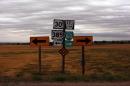 Highway signs in rural America
