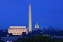 Washington D.C. skyline at night