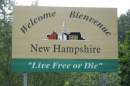 """Welcome to New Hampshire"" sign"