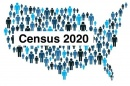 Census 2020 graphic showing different people across the U.S.