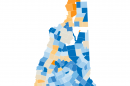 Image of New Hampshire based on Census results