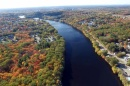 Aerial view of the Merrimack River