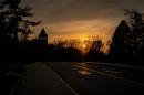 Thompson Hall at sunset
