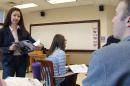 Ruwa Majid-Pokorny in the classroom