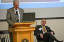 President Huddleston addresses the Lean management forum