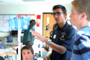 UNH engineering student and president of the UNH chapter of the National Society for Black Engineers Siddharth Nigam at Greenland Central School