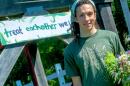 James Boniakowski  with organic farming club