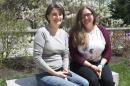 Serita Frey and graduate student Sarah Andrews