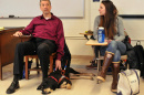 Randy Pierce and Alyssa Ballestero with guidedog Autumn