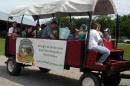 Photo of Granite State Dairy wagon, red