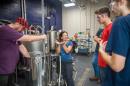 UNH students brewing kiwibeer.