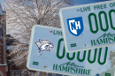 UNH license plate decal image