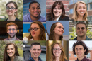 a photo collage of different UNH 2017 graduates