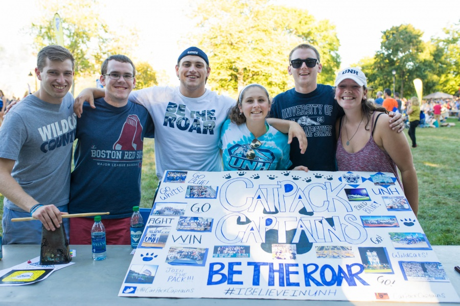 UNH Cat Pack Captains at University Day