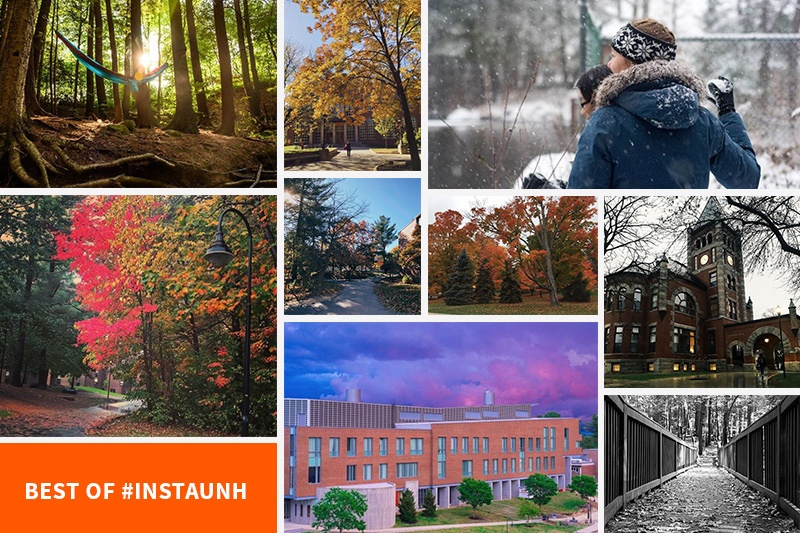 collage of the best photos from #instaunh fall 2017