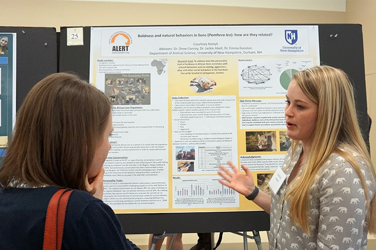 Courtney Kamyk '18 at the UNH Undergraduate Research Conference