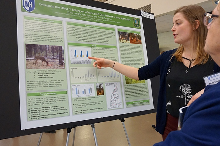 Emily Landry '18 at the UNH Undergraduate Research Conference