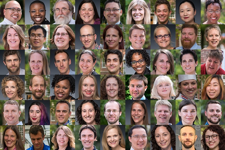 collaged image of UNH's new faculty 2017
