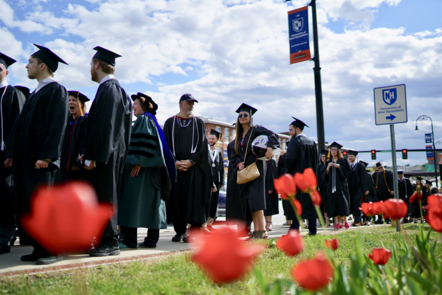 UNH Manchester graduates outside