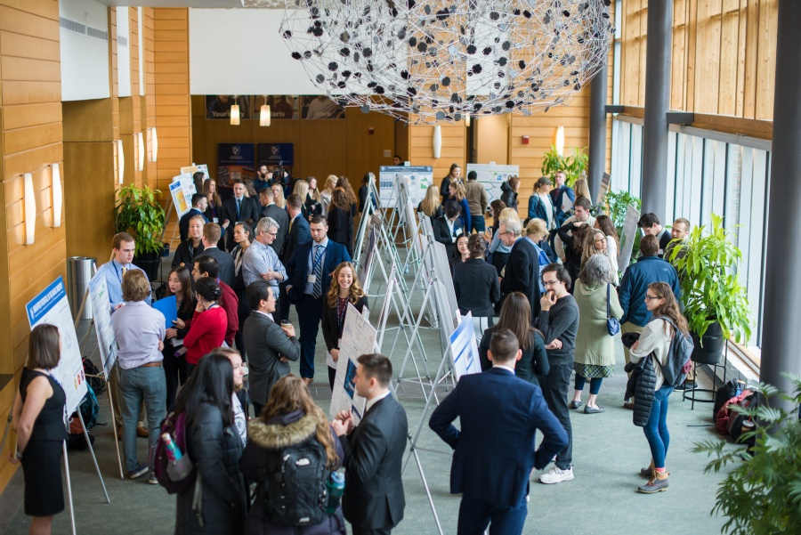 The Great Hall at UNH's Paul College of Business and Economics during the 2018 Undergraduate Research Conference