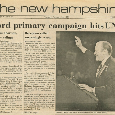Ford primary campaign hits UNH - TNH article