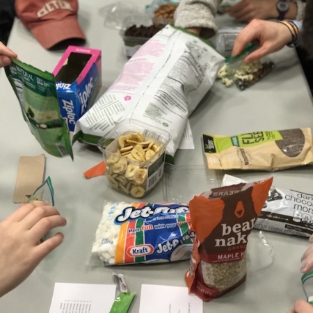snacks on a table