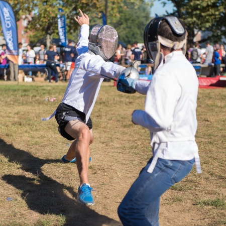 UNH students fencing at University Day