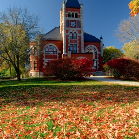 Thompson Hall in Fall