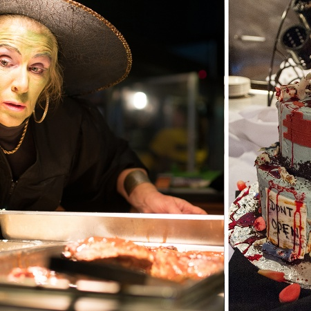 Dining worker dressed as a witch