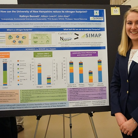 Kathryn Bennett '19 UNH Environmental Sciences and Sustainability