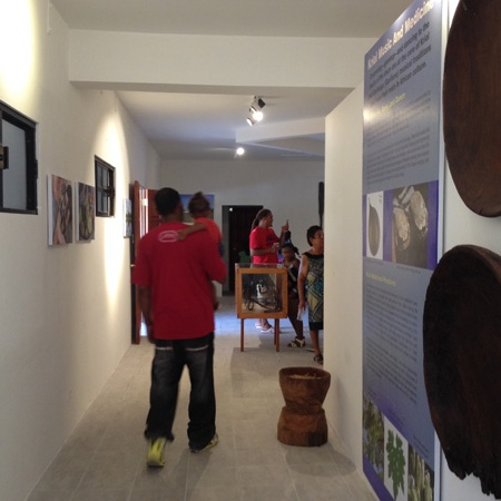 visitors in the museum