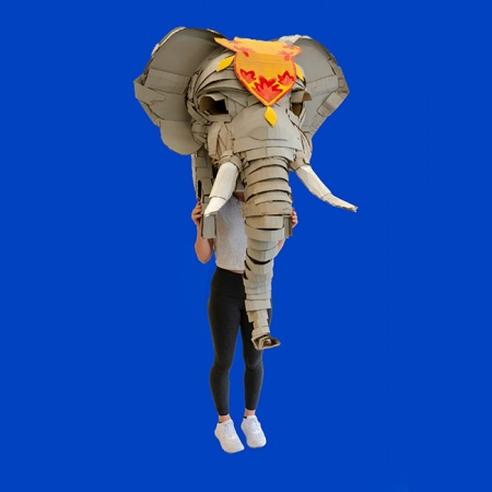 elephant head mask