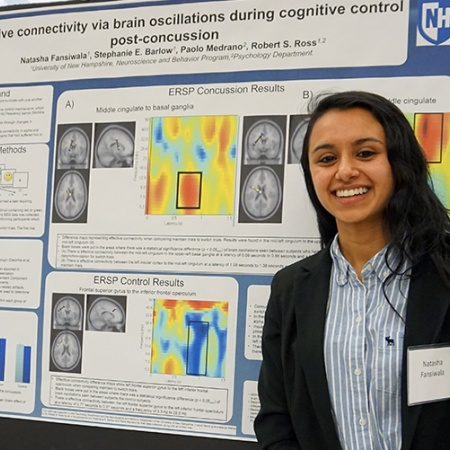 Natasha Fansiwala '18 at the UNH Undergraduate Research Conference