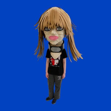 head of Hannah Montana mask