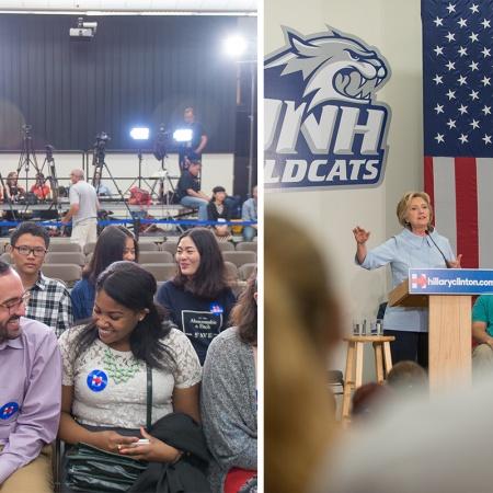 Hillary Clinton Visits UNH