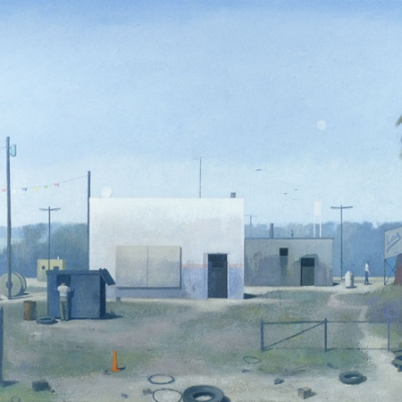 a painting by Craig Hood, UNH Professor of Art and Chair of the Department of Art and Art History