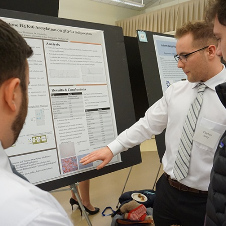 Clayton Jerry '18 and Anderson Thompson '18 at the UNH Undergraduate Research Conference