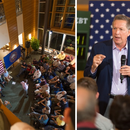 John Kasich visits the UNH Paul College of Business and Economics
