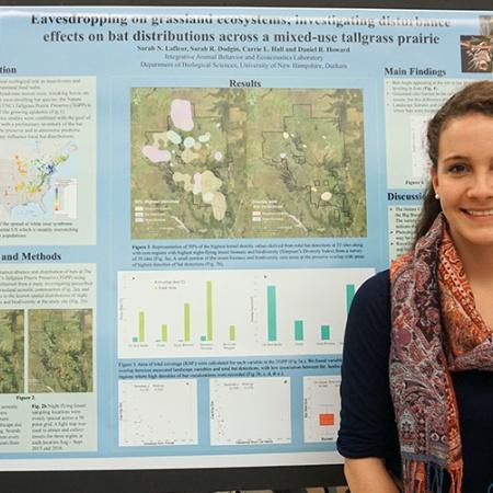 Sarah Lafleur '19 at the UNH Undergraduate Research Conference