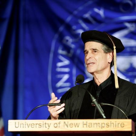 Inventor Dean Kamen address UNH Manchester graduates during commencement 2018