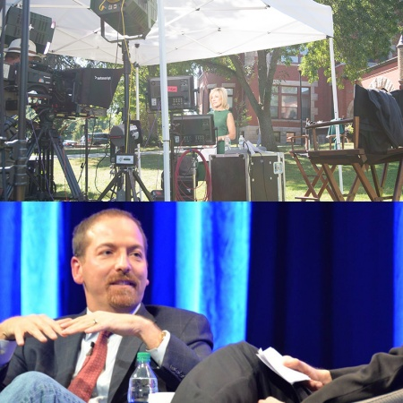 Andrea Mitchell and Chuck Todd visit UNH