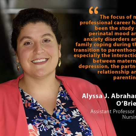Alyssa J. Abraham O'Brien, UNH Assistant Professor of Nursing, and quote