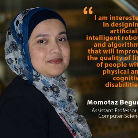 Momotaz Begum, UNH Assistant Professor of Computer Science, and quote