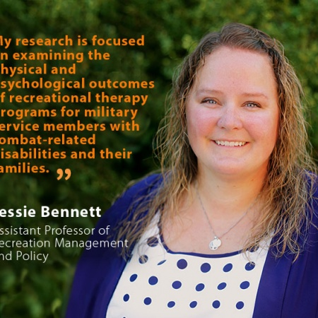 Jessie Bennett, UNH Assistant Professor of Recreation Management and Policy, and quote