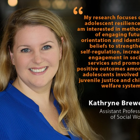 Kathryne Brewer, UNH Assistant Professor of Social Work, and quote