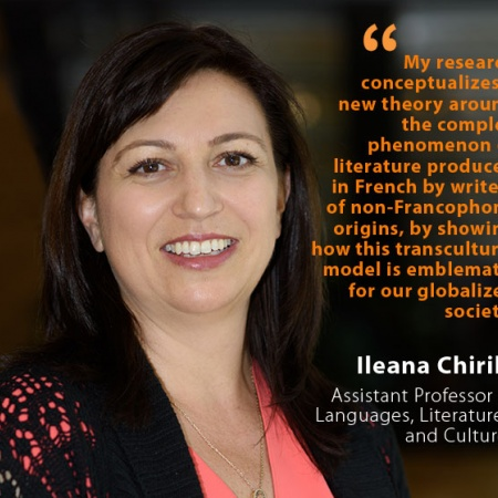 Ileana Chirila, UNH Assistant Professor of Languages, Literatures, and Cultures, and quote